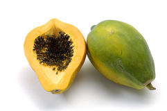 Papaya. On white -close up Royalty Free Stock Images