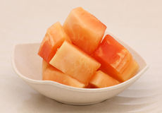 Papaya. This is tropical fruit that have a lot of vitamin Stock Image
