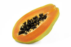 Papaya. Shot on white background Royalty Free Stock Image