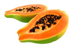 Papaya. Halves of papaya. Tropical fruit Royalty Free Stock Photo