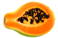 Papaya. Half of papaya. Tropical fruit Stock Images