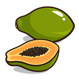 papaya Arkivbild