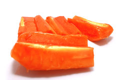 Papaya. Cutted papaya fruits on white background with sharow Royalty Free Stock Image