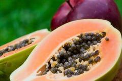 Papaya and apple Royalty Free Stock Photo