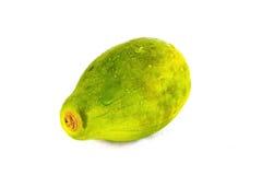 Papaya auf weißem Hintergrund lizenzfreies stockbild