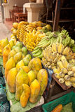 Papaya and Banana Royalty Free Stock Photos