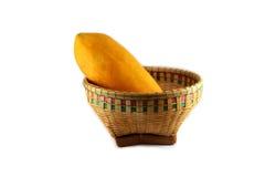 Papaya on basket Stock Images