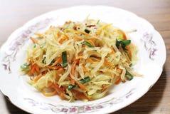 Papaya champloo. Of the food of Okinawa Royalty Free Stock Photo