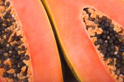 Papaya close-up. Papaya fruits stock photos