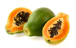 Papaya in closeup Royalty Free Stock Photo