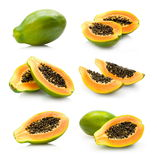 Papaya collection Royalty Free Stock Photography