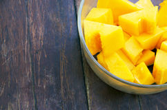 Papaya in cup Stock Images