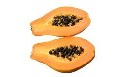 Papaya Cut in Half Royalty Free Stock Photography