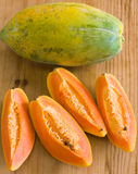 Papaya, Cut and Whole Royalty Free Stock Image