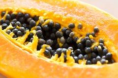 Papaya. A delicious ripe papaya on white background Stock Photo