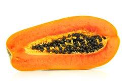 Papaya en el fondo blanco Foto de archivo libre de regalías