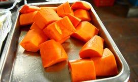 Papaya für das Essen stockfotografie