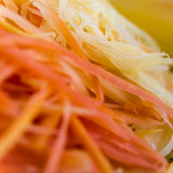 Papaya fibers. Background, papaya fibers were chopped to prepare a salad royalty free stock images