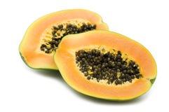 Papaya fresca de la rebanada Fotografía de archivo libre de regalías