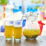 Papaya fresh juice Stock Images