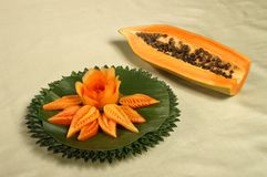 Papaya fruit Stock Image