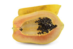 Papaya fruit. On white background Stock Images