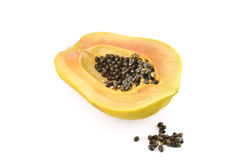 Papaya fruit. On white background Royalty Free Stock Images
