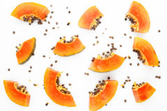 Papaya fruit background Stock Photo