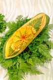 Papaya fruit carving. Stock Images