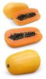 Papaya fruit with cut Royalty Free Stock Image