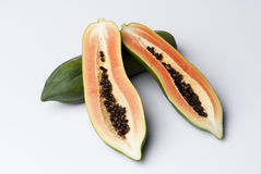Papaya. Fruit food healthy sweet Stock Images