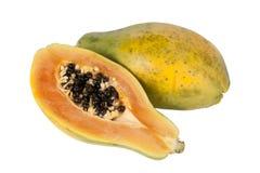 Papaya fruit halved Royalty Free Stock Image