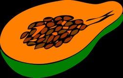 Papaya, Fruit, Halved, Fresh, Ripe Royalty Free Stock Images