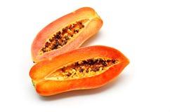 Papaya fruit isolated Royalty Free Stock Images