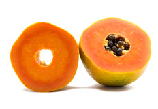 Papaya fruit isolated Royalty Free Stock Image