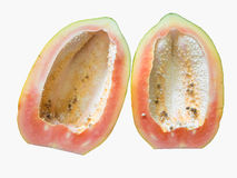 Papaya fruit isolated on white background Royalty Free Stock Photos