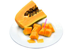 Papaya fruit Stock Photos