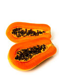 Papaya fruit sliced on half Royalty Free Stock Photos