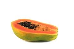 Papaya fruit. On a white background Stock Image