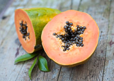 Papaya fruit Stock Photo