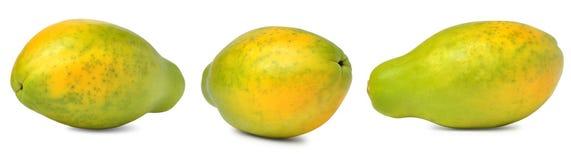 Papaya fruite. Papaya  on white background Royalty Free Stock Photos