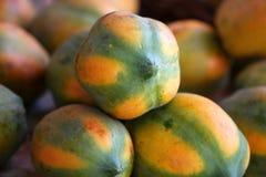 Papaya fruits Stock Photography