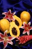 Papaya fruits Stock Photo
