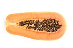 Papaya fruits isolated on white background. Stock Image