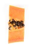 Papaya fruits isolated on white background. Royalty Free Stock Photos