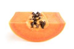 Papaya fruits isolated on white background. Stock Photo