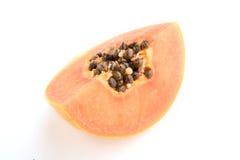 Papaya fruits isolated on white background. Stock Images