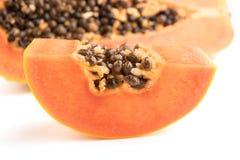 Papaya fruits isolated on white background. Royalty Free Stock Image