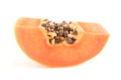 Papaya fruits isolated on white background. Royalty Free Stock Photo