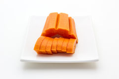 Papaya fruits Stock Image